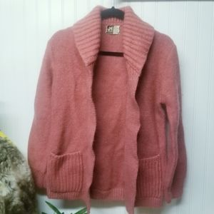 JH Collectibles Women's Pink Cardigan Sweater L